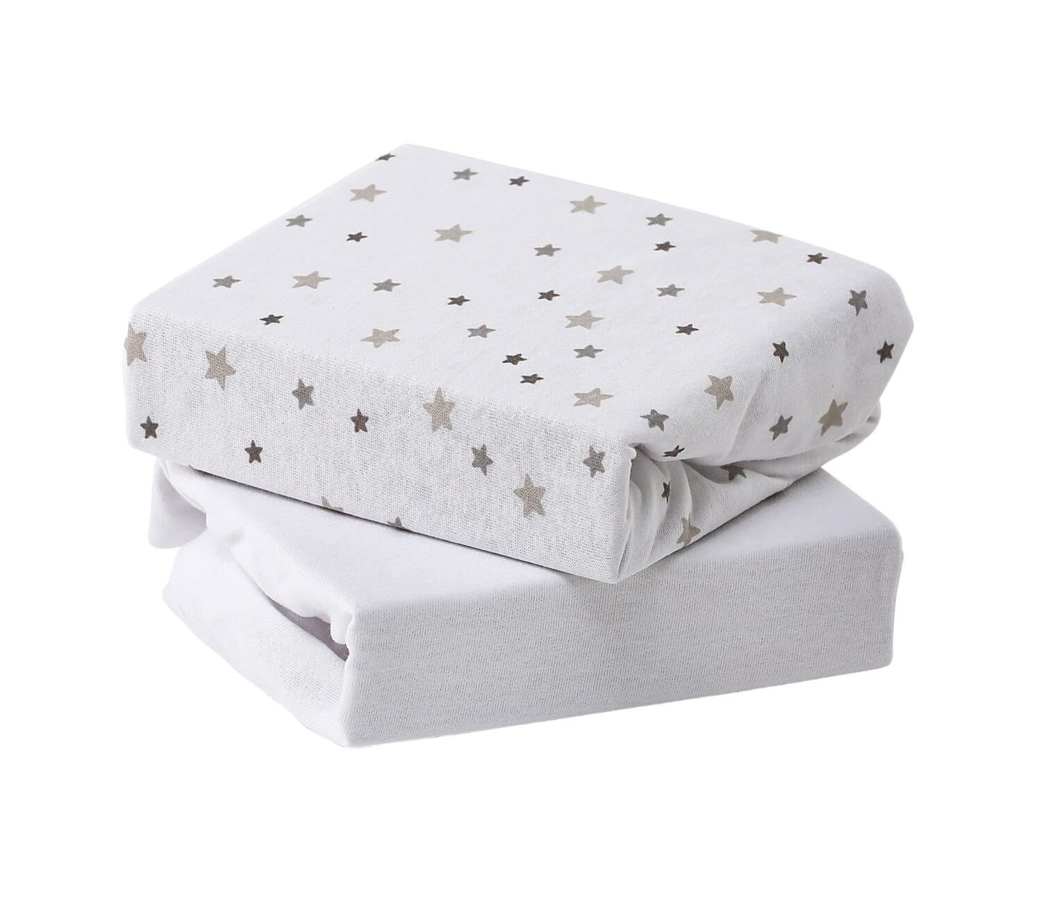 2 Pack Cot Bed Fitted Sheet Jersey